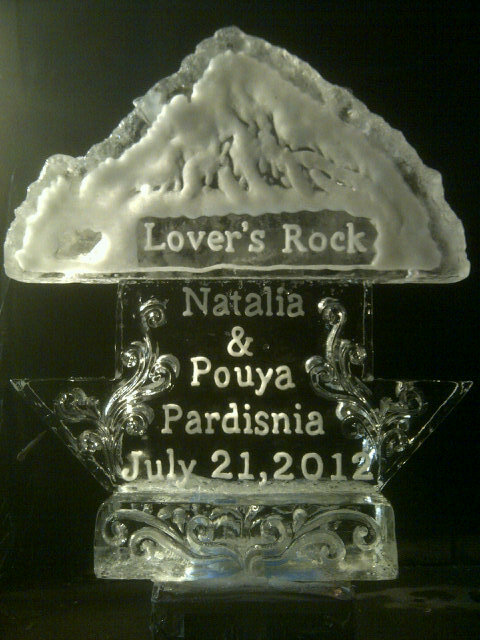 CUSTOM ICE LUGE FOR WEDDINGS