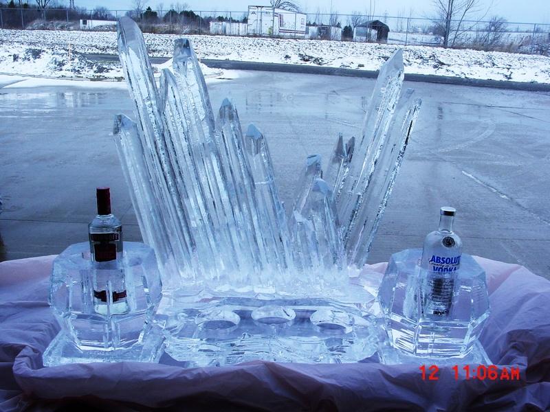 VODKA AND CAVIAR ICE PIECE